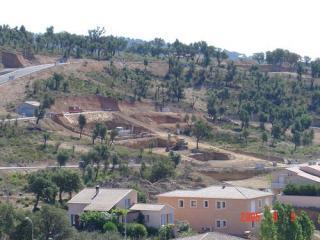 Terrassement villa - grimaud