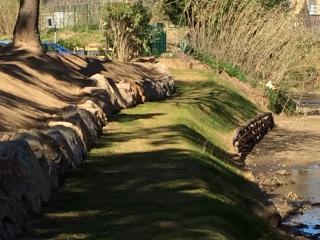 Aménagement de berges avec caissons végétalisés à Sainte Maxime